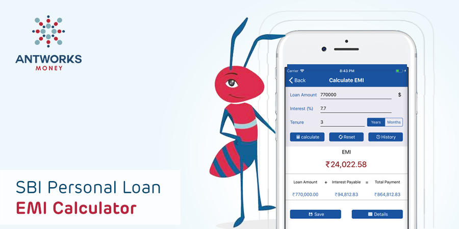 What Is SBI Personal Loan EMI Calculator - Antworks Money